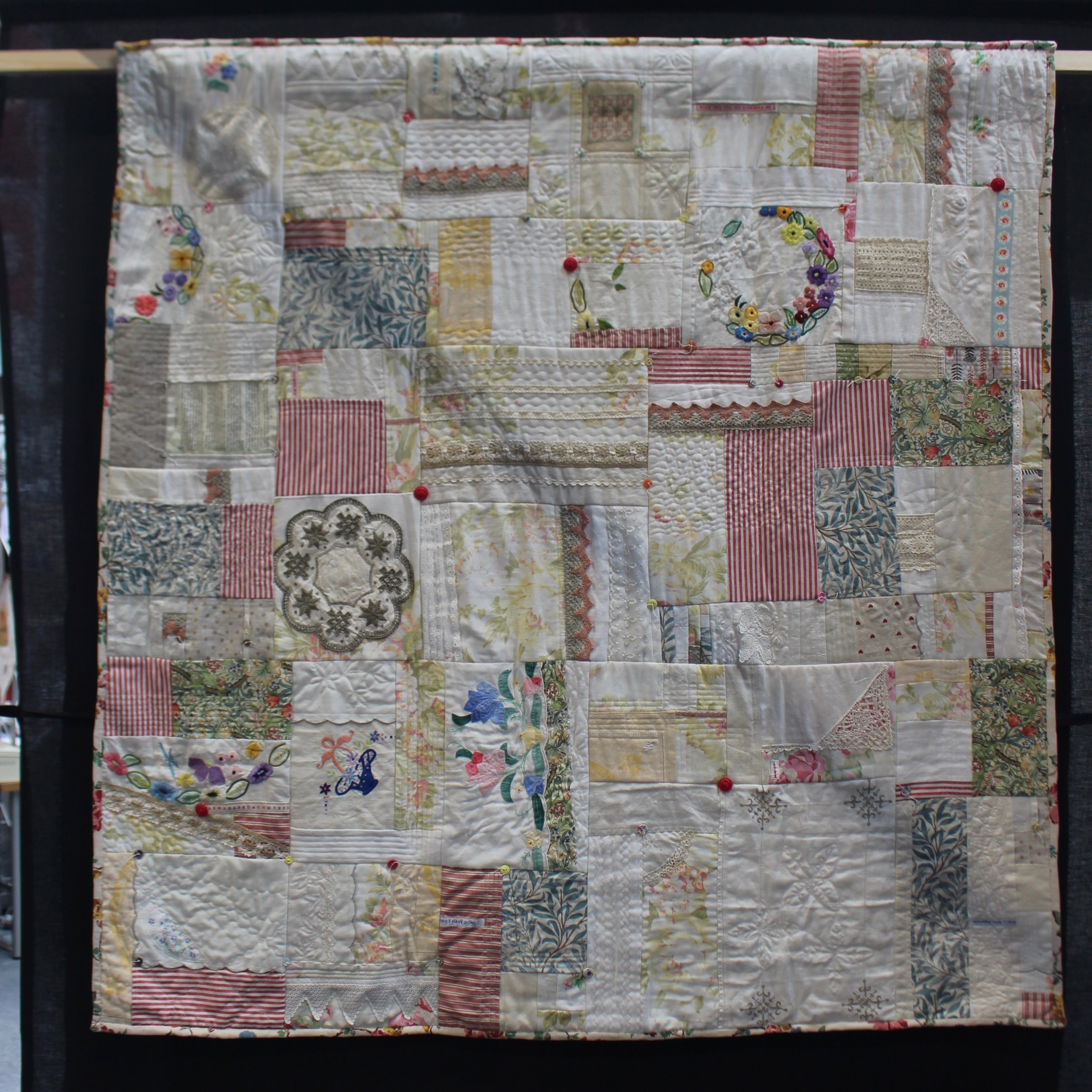 Grandma's chintz counterpane, by Moira Ackers, Festival of Quilts 2019
