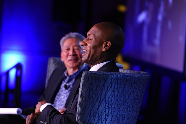 Forefront: Charles Blow, Foreground: Michael Omi
