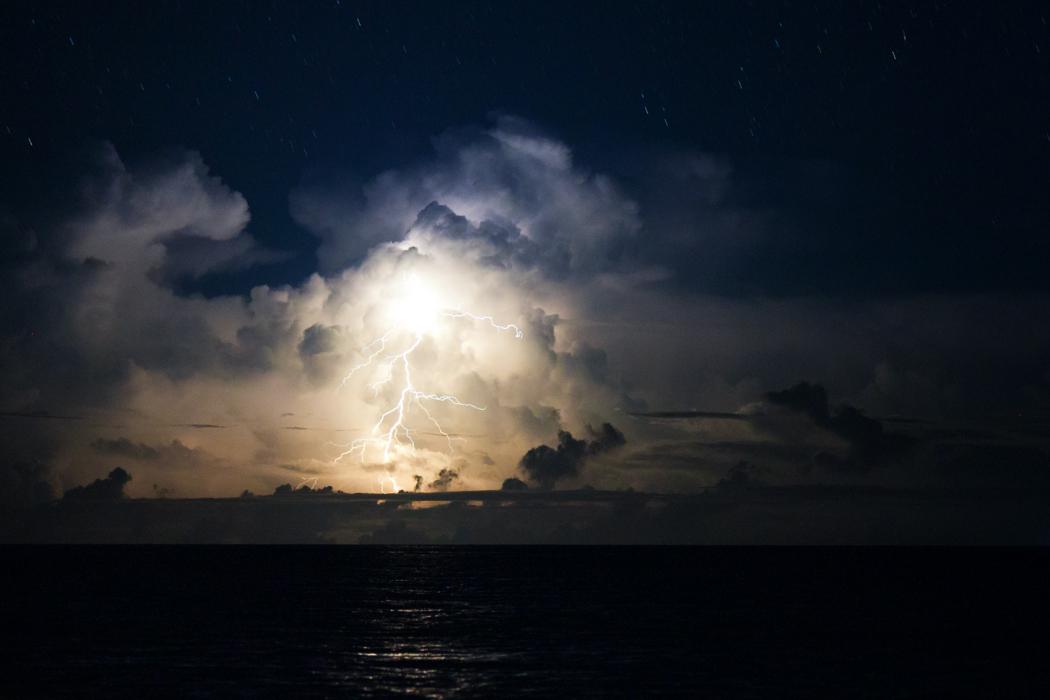 Tropical lightning, Kuata, Fiji.