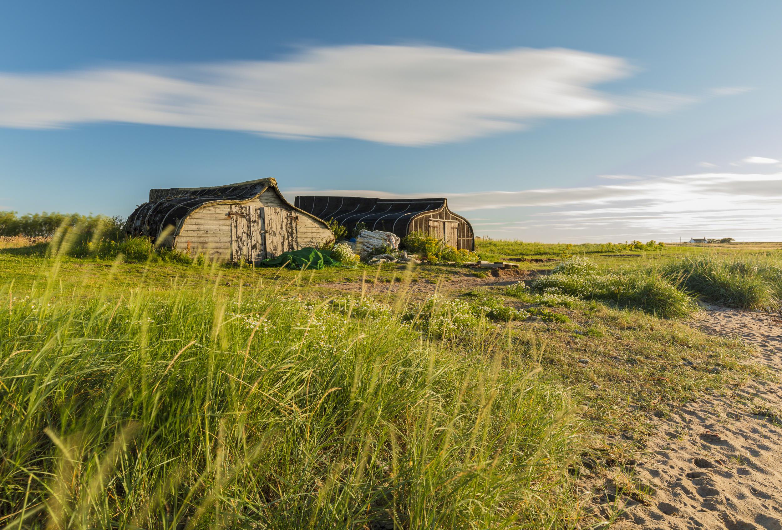 Upturned Boat Yards - Holy Island 06:49 29th July 2017