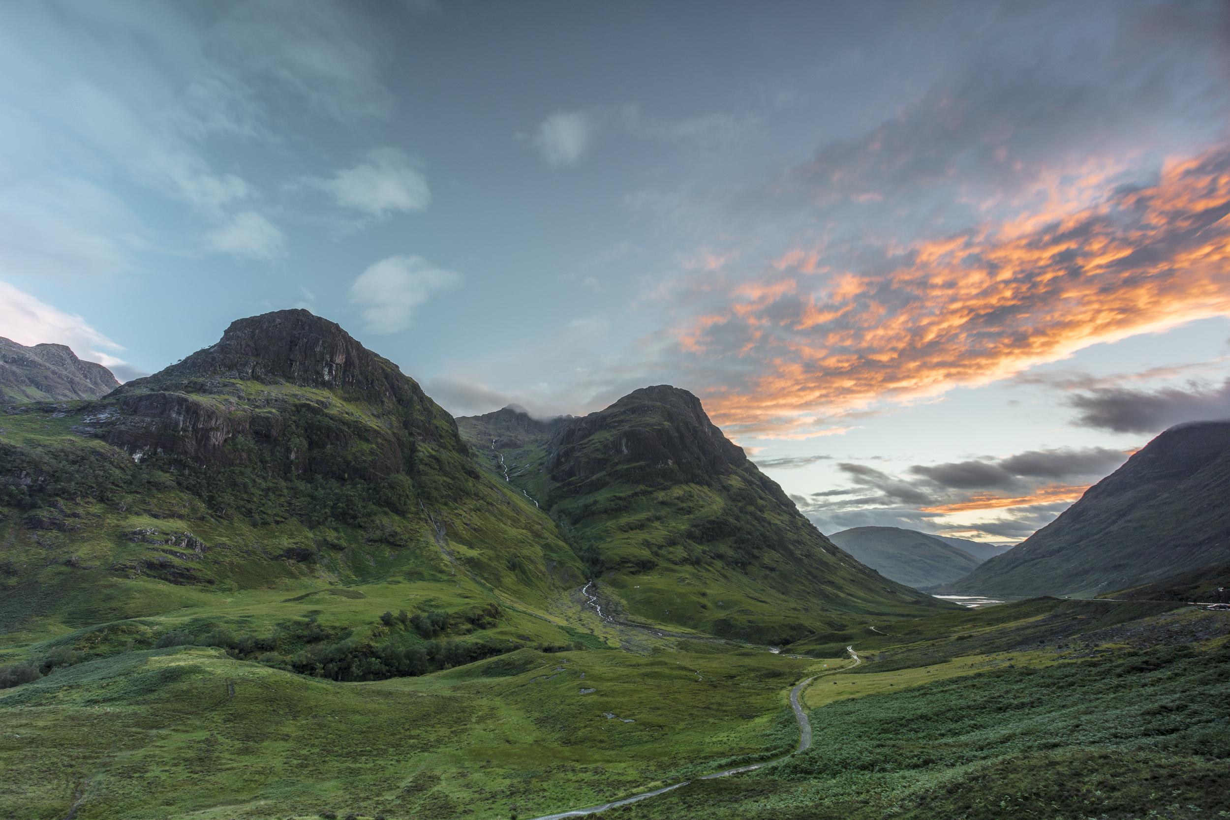 Three Sisters at sunset, Glencoe, Scotland - 21:22 4th August 2017