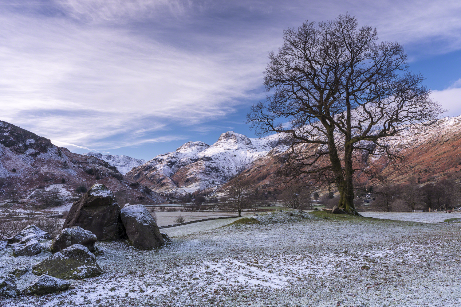 Langdale Boulders to the Langdale Pikes, Lake District - 13:58 10th December 2017