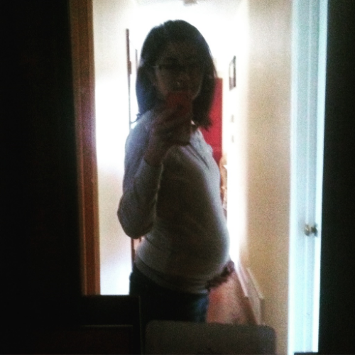 At 20 weeks pregnant.