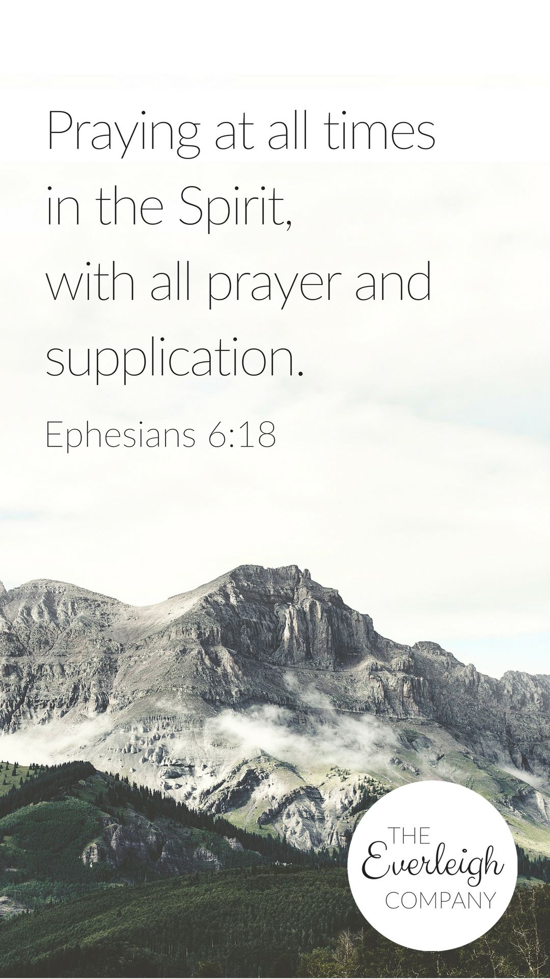 Everleigh Company iPhone Wallpaper Praying At All Times