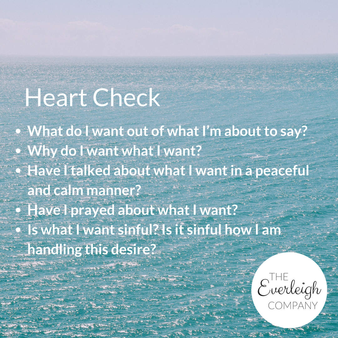 Everleigh Company Speak Life Challenge Day 1 Heart Check