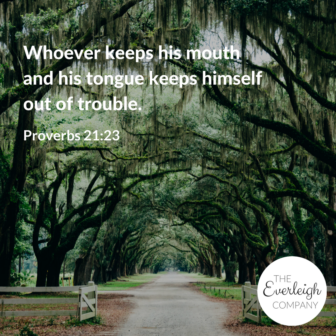 Everleigh Company Speak Life Challenge Day 2 verse proverbs