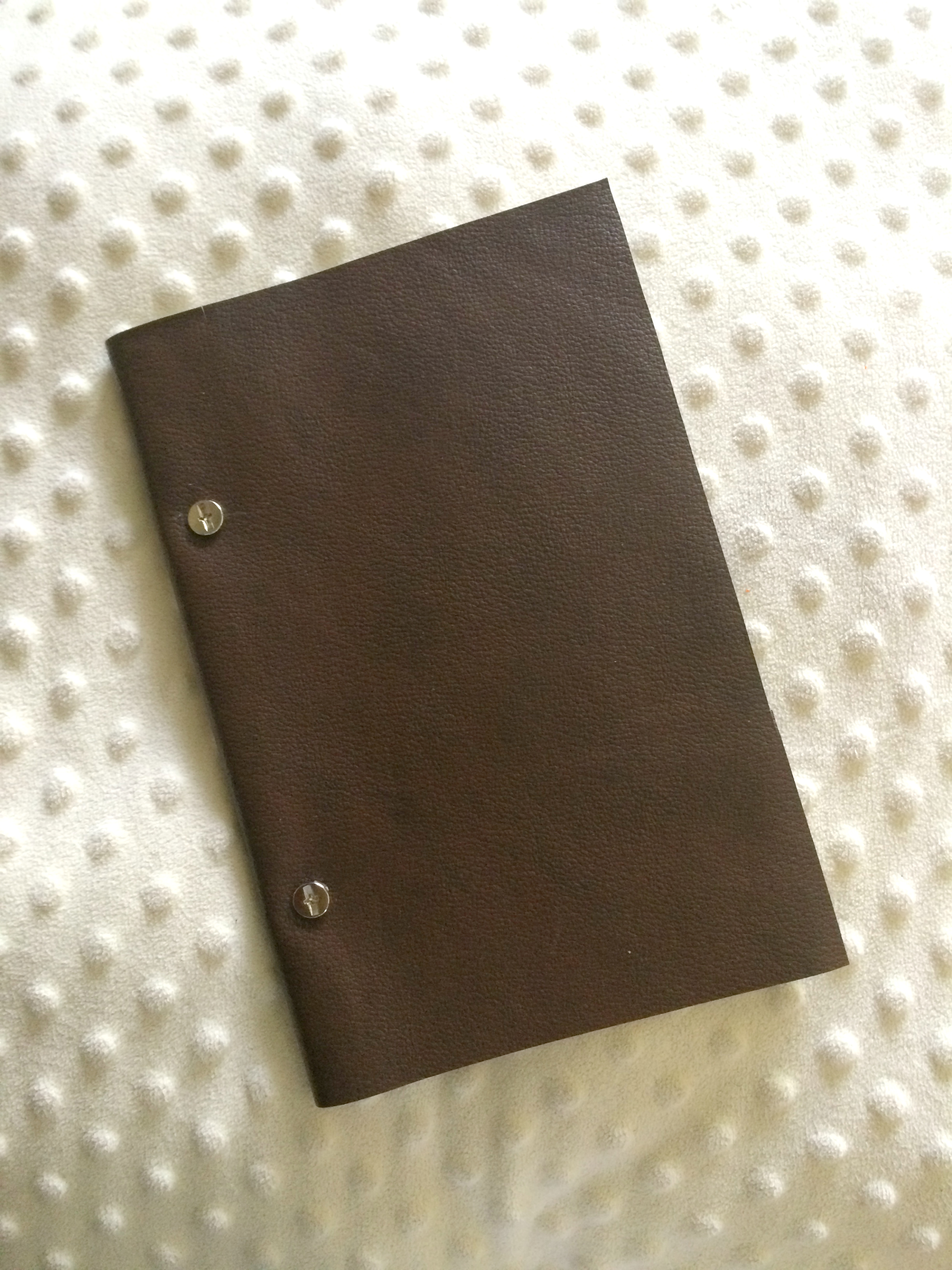Recycled Leather Journal by Everleigh Company