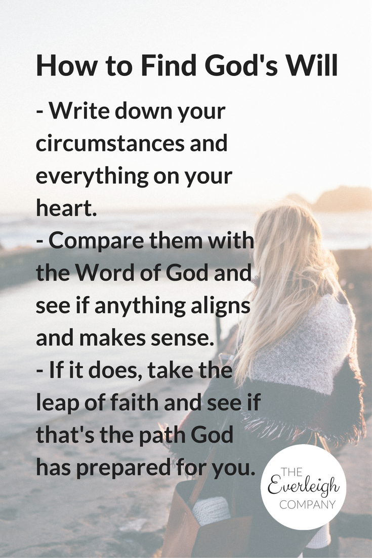 Blog Post: How to Find God's Will by Everleigh Company #Christian #advice #tips #wisdom
