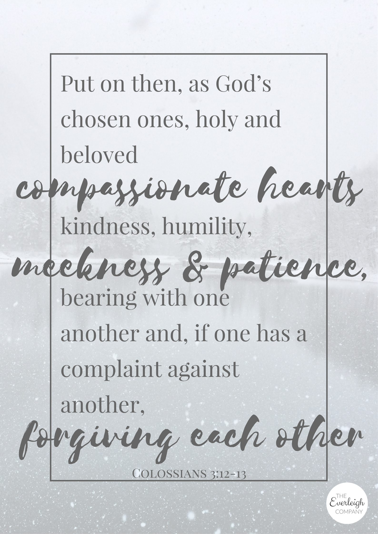 Scripture Wall Art Free Printable by Everleigh Company #freedownload #Bible #verse #Christian