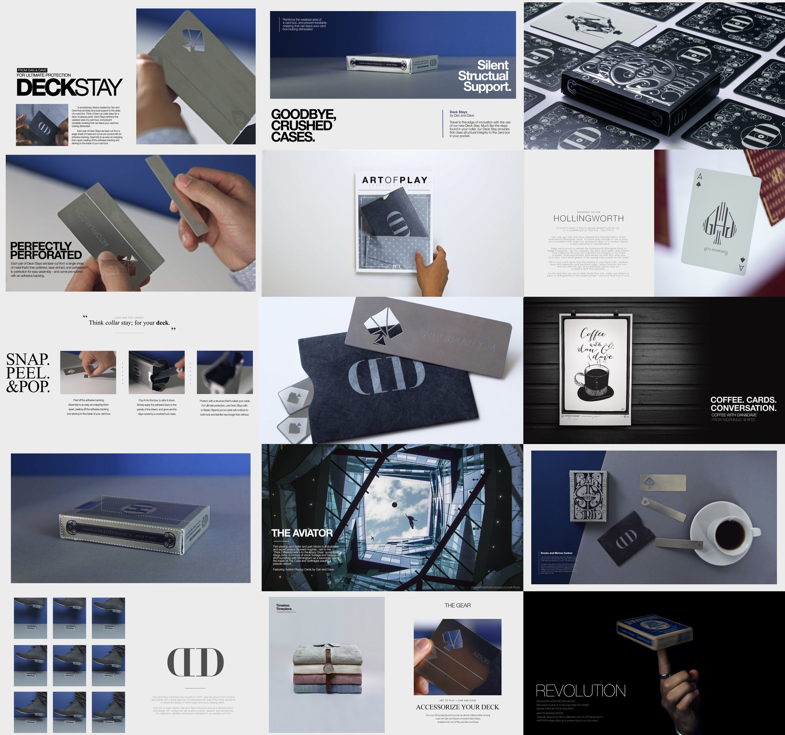 Each magazine page was designed in full before developing the animation of the motion graphics.