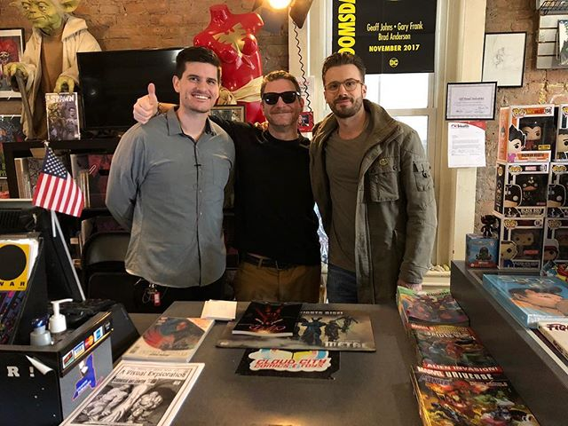  #Legend  With the legendary @jeffwatkinsstaygold @cloud_city_comics he has done a lot for the comic community and let us film our Kickstarter video at his shop #comicbook #cloudcitycomicsandtoys#kickstarter#citizenskyland