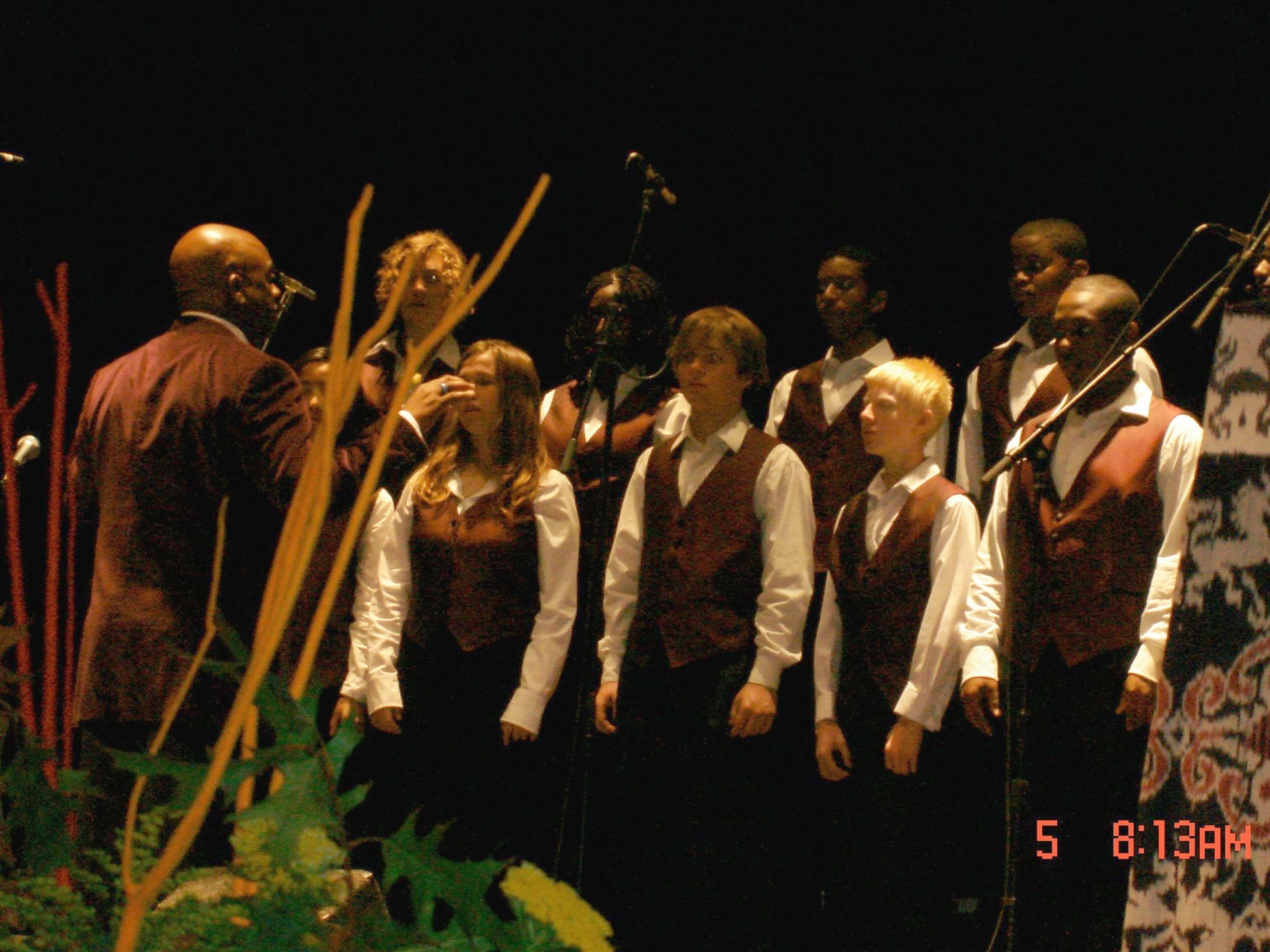 Dan performing with the Oakland Interfaith Youth Gospel Choir