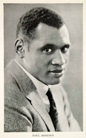 Paul Robeson memorabilia - set of 5 post cards
