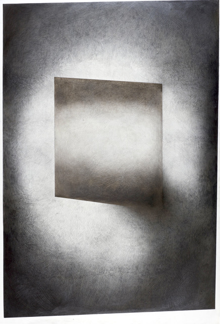 Cached Landscape , 2013 Pencil and silverpoint on panel 48 x 72 inches
