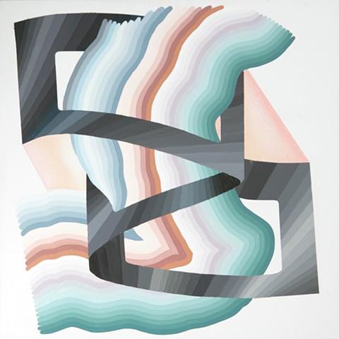Justin Margitich  Iridium #3 , 2014 Acrylic and colored pencil on panel 24 x 24 inches