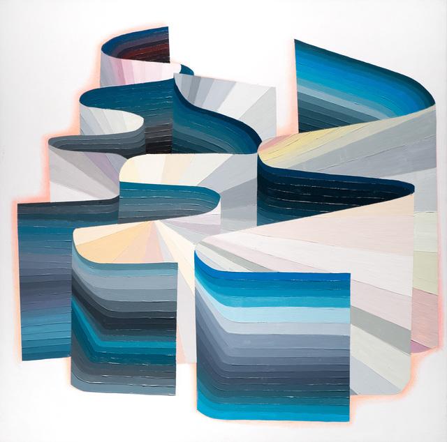 Justin Margitich  Iridium #4 , 2014 Acrylic and colored pencil on panel 24 x 24 inches