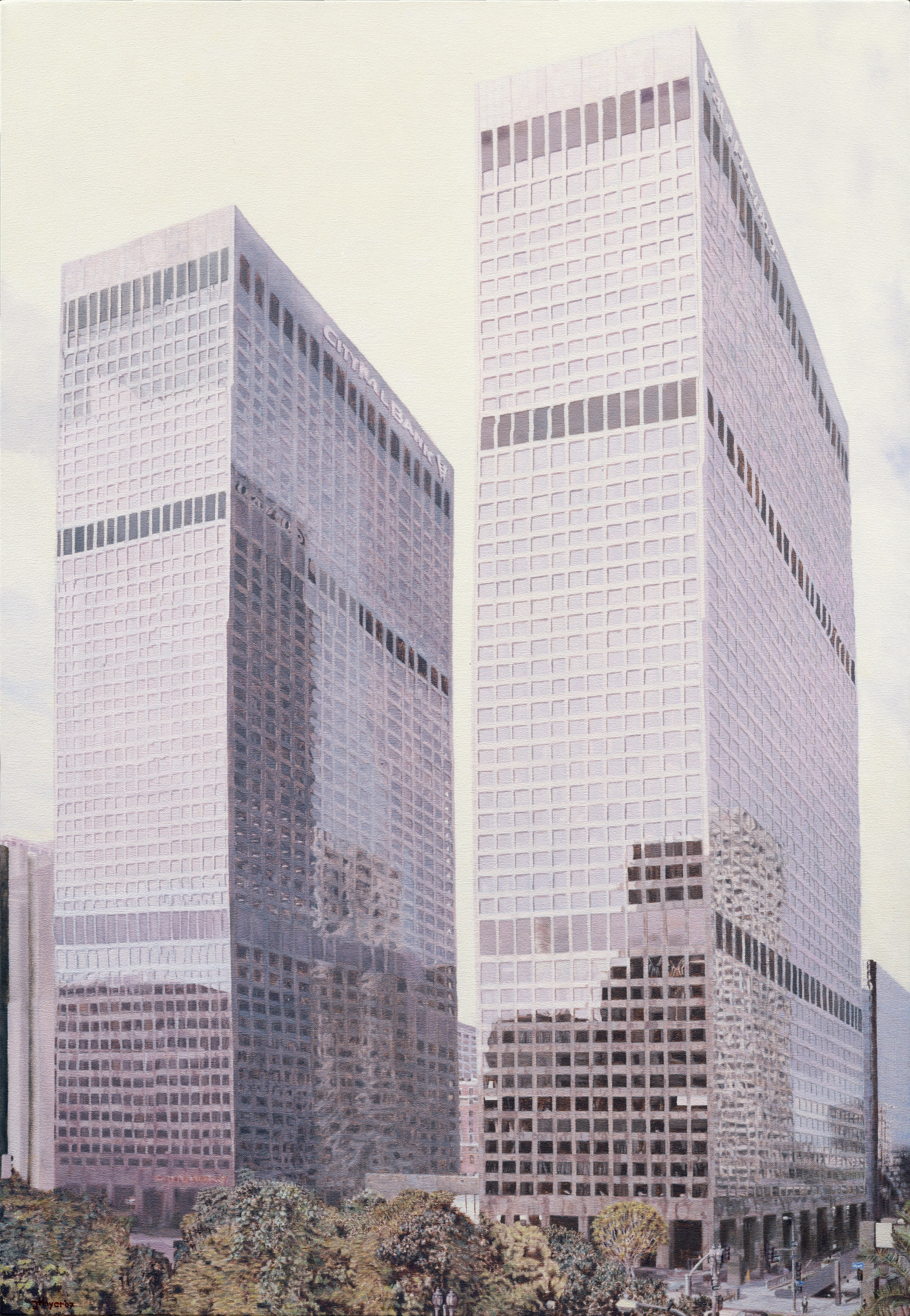 Arco Towers , 2007 Oil on canvas 35 x 50 inches