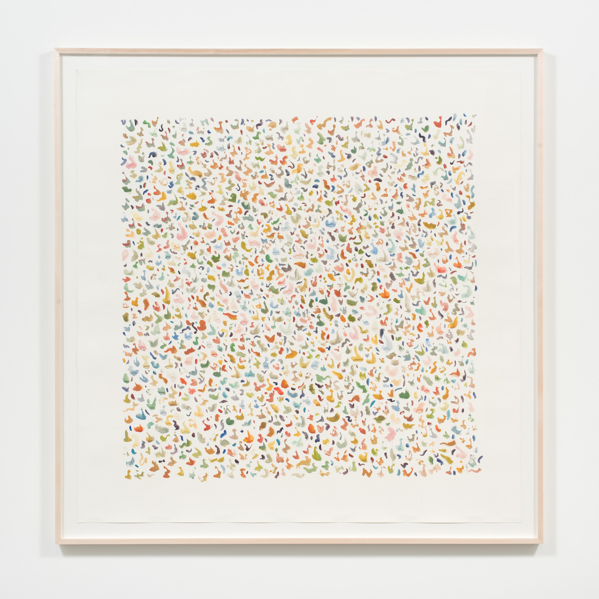 Alexa Guariglia  Terrazzo , 2017 Gouache, ink, and watercolor on paper 67 x 66 inches