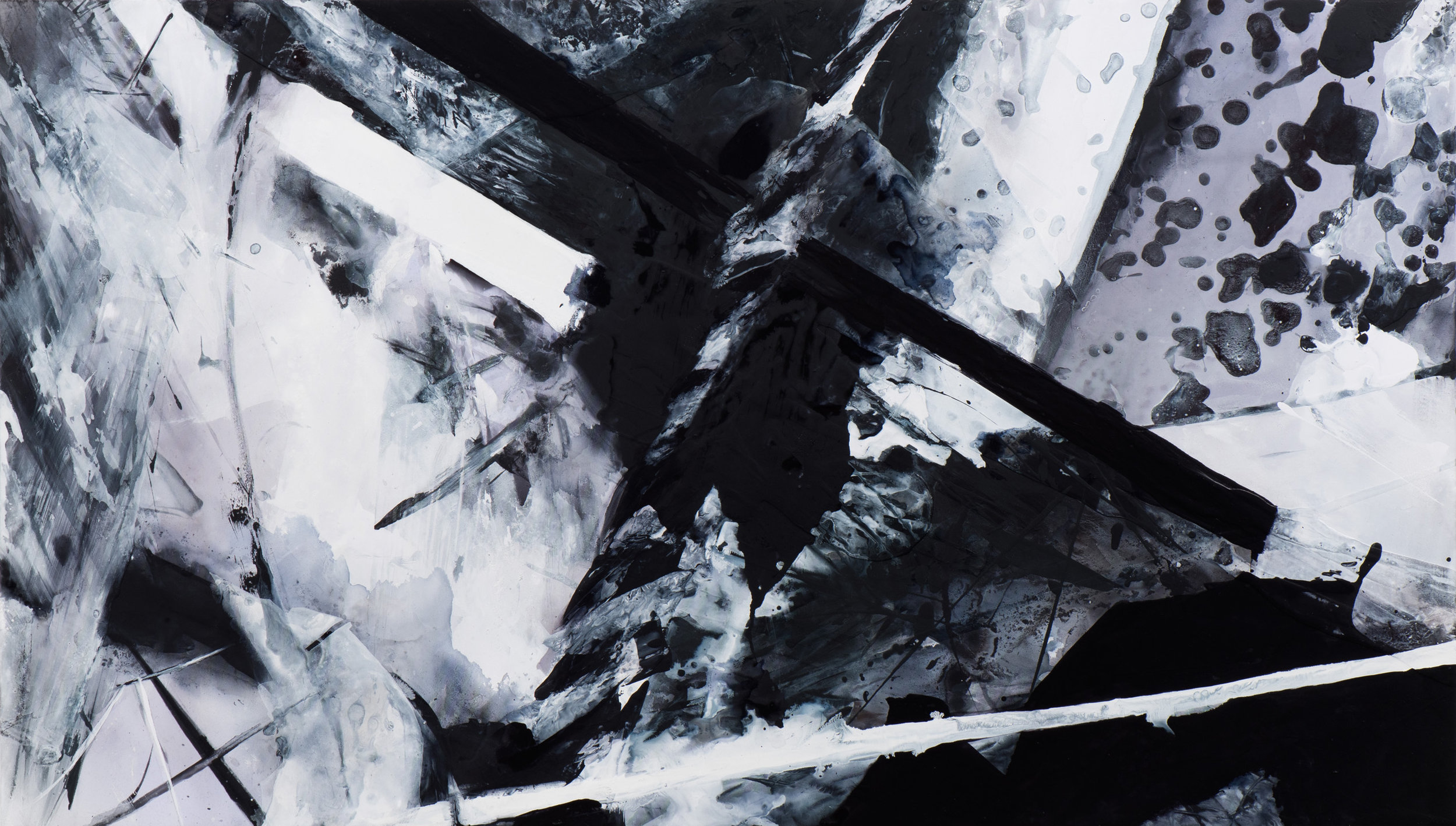Downfall , 2017 Acrylic on polyester 30 x 51 1/2 inches CLBA-0036 $13,500