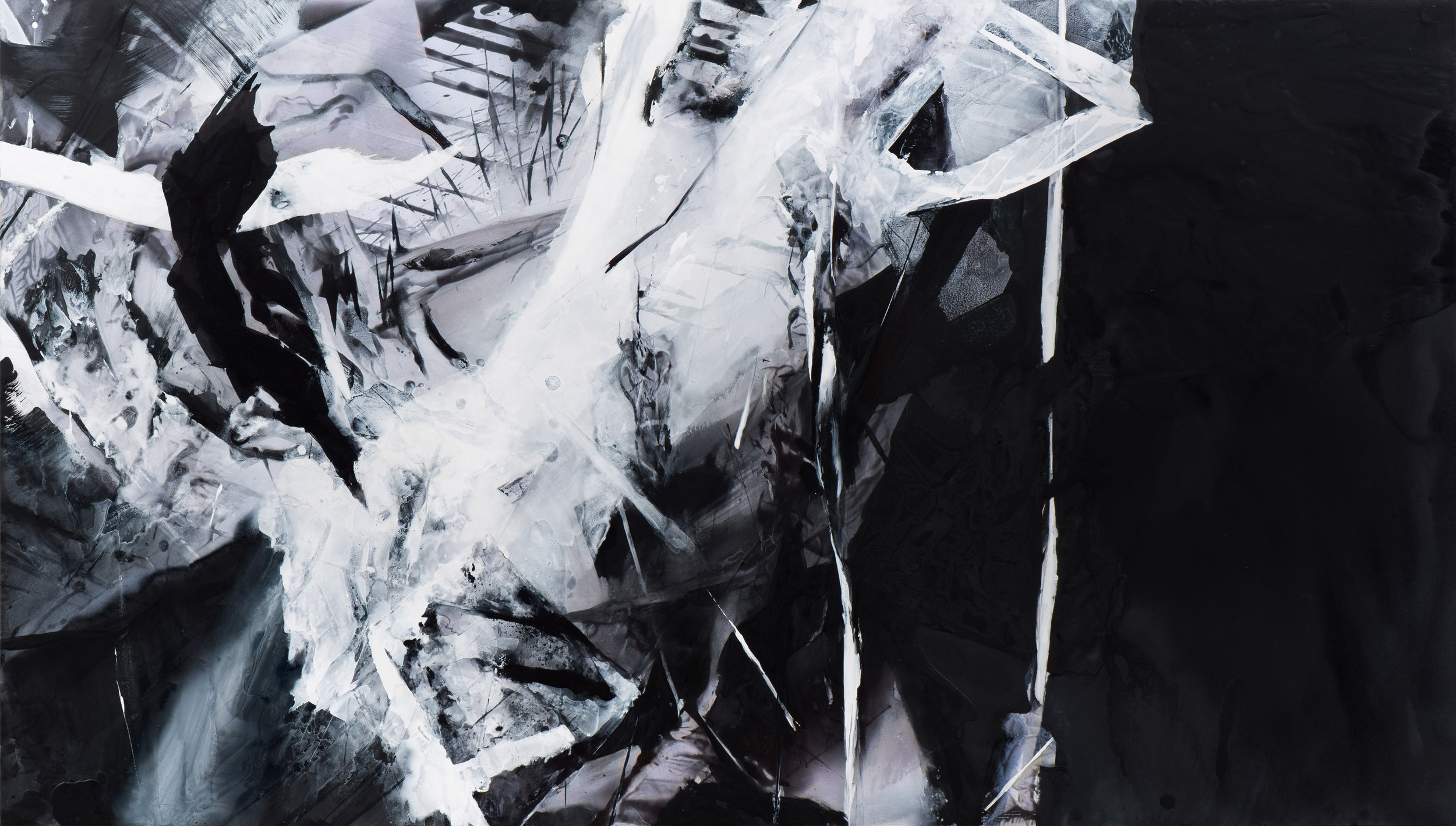 Precipice , 2017 Acrylic on polyester 35 x 61 1/2 inches CLBA-0038 $13,500