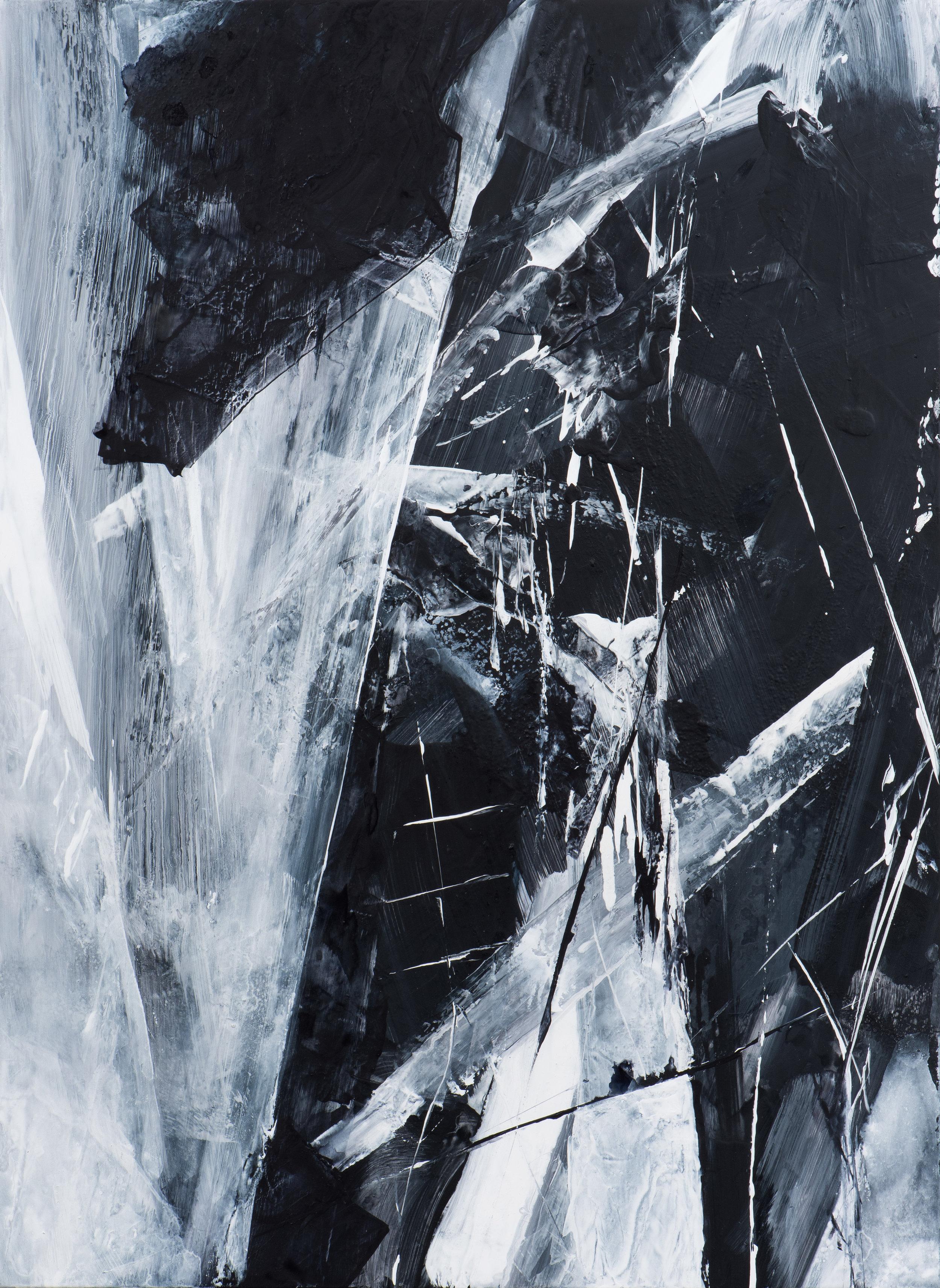 Caesura , 2017 Acrylic on polyester 33 x 19 inches CLBA-0047 $3600
