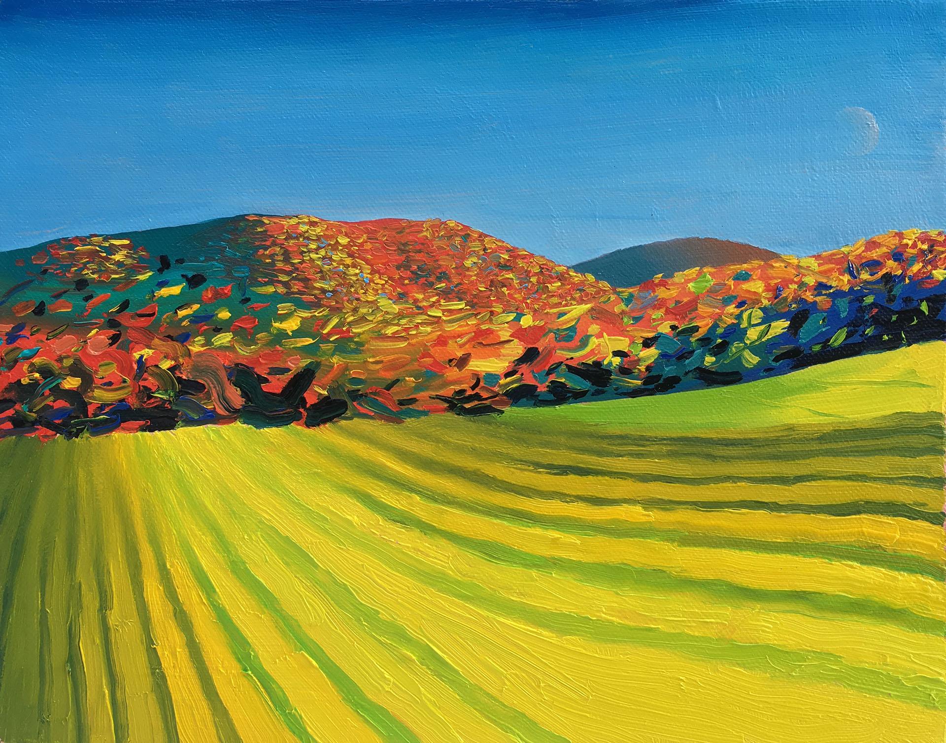 Subtle Moon En Plein Air , 2016 Oil on canvas 8 x 10 inches ELSW-0026 $2,500