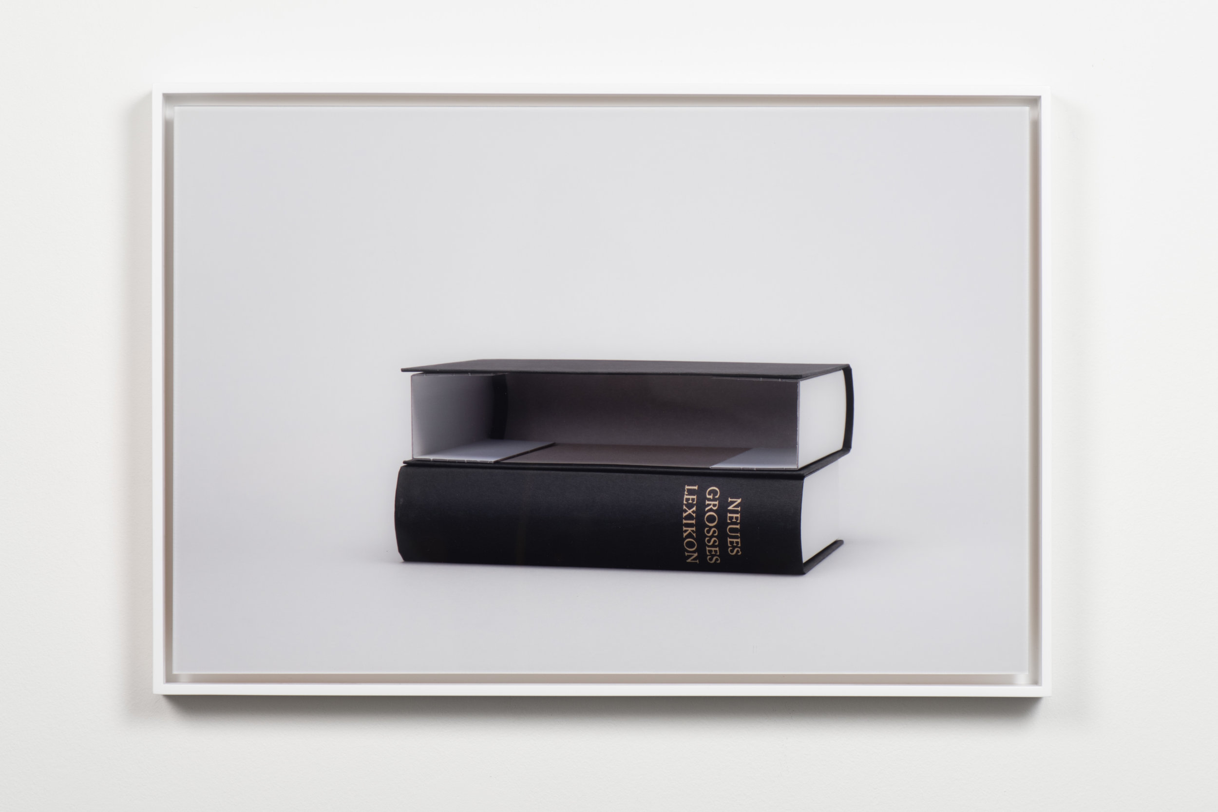 New Large Dictionary (Neues Grosses Lexikon) , 2017 Framed chromogenic print 13 3/16 x 19 7/8 inches Edition of 5 + 2 APs KISC-0015 $2,400