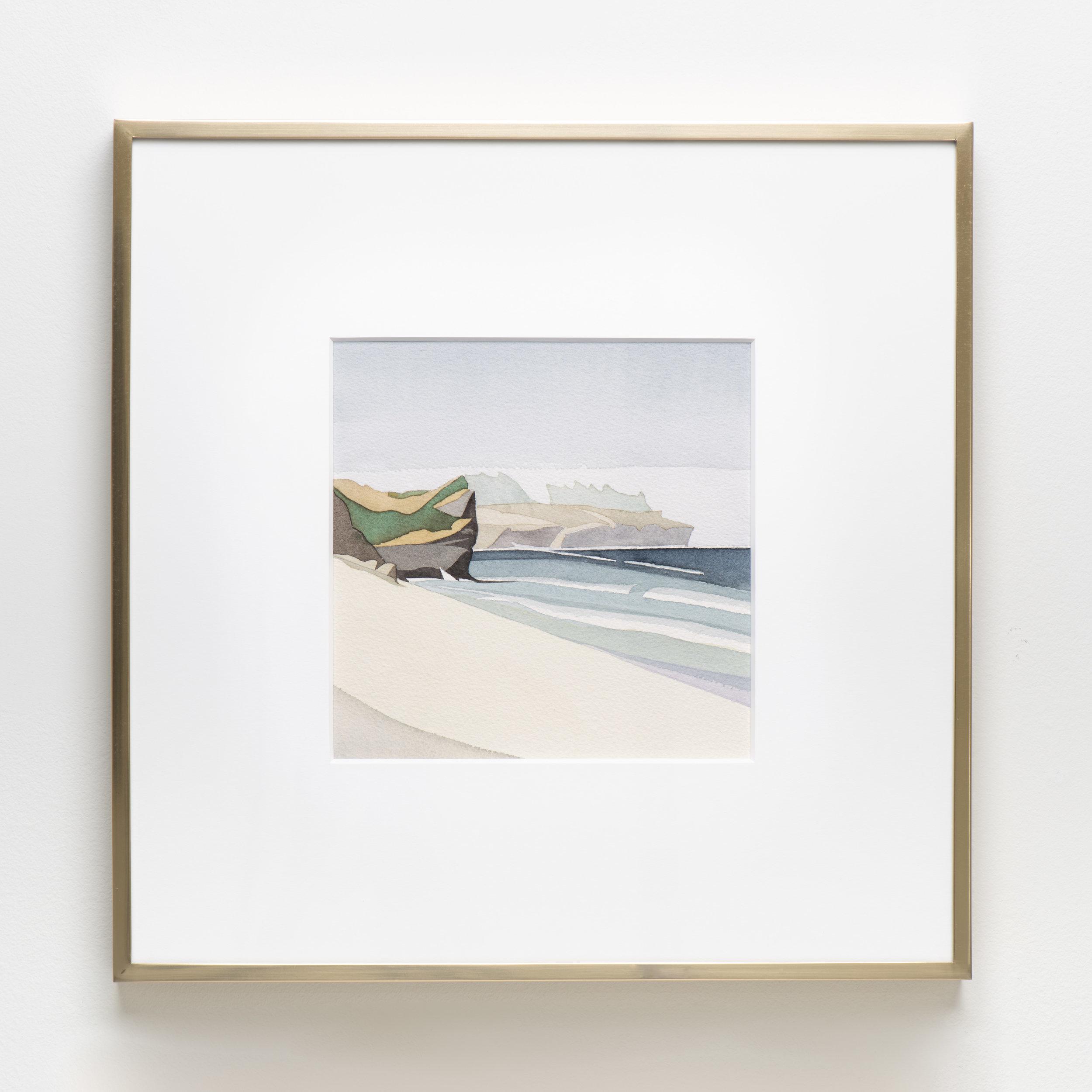 Kilifi Beach , 2018 Watercolor on paper 15 7/8 x 15 7/8 inches