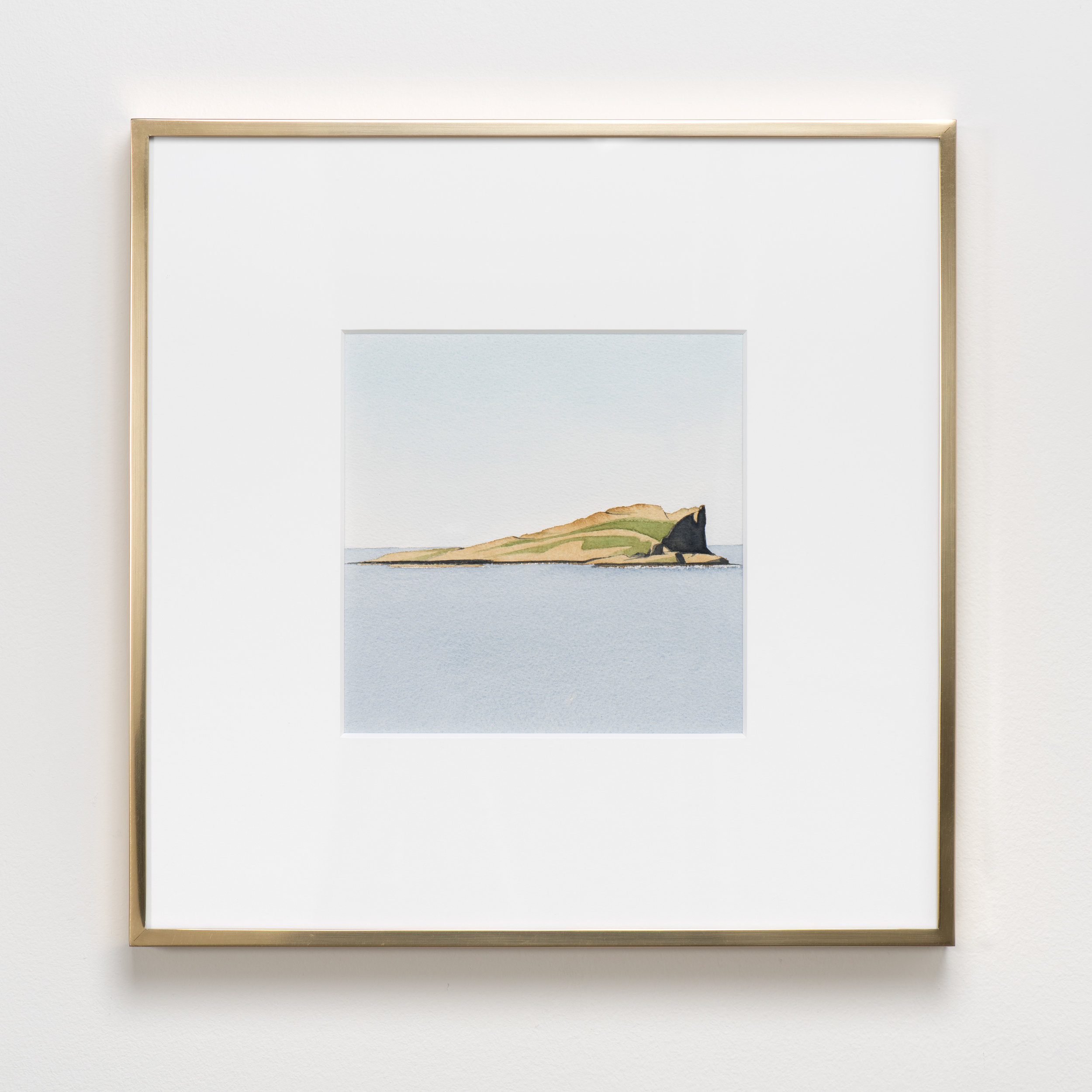 Kylie White  Flodigarry Island, Isle of Skye , 2017 Watercolor on paper 15 7/8 x 15 7/8 inches