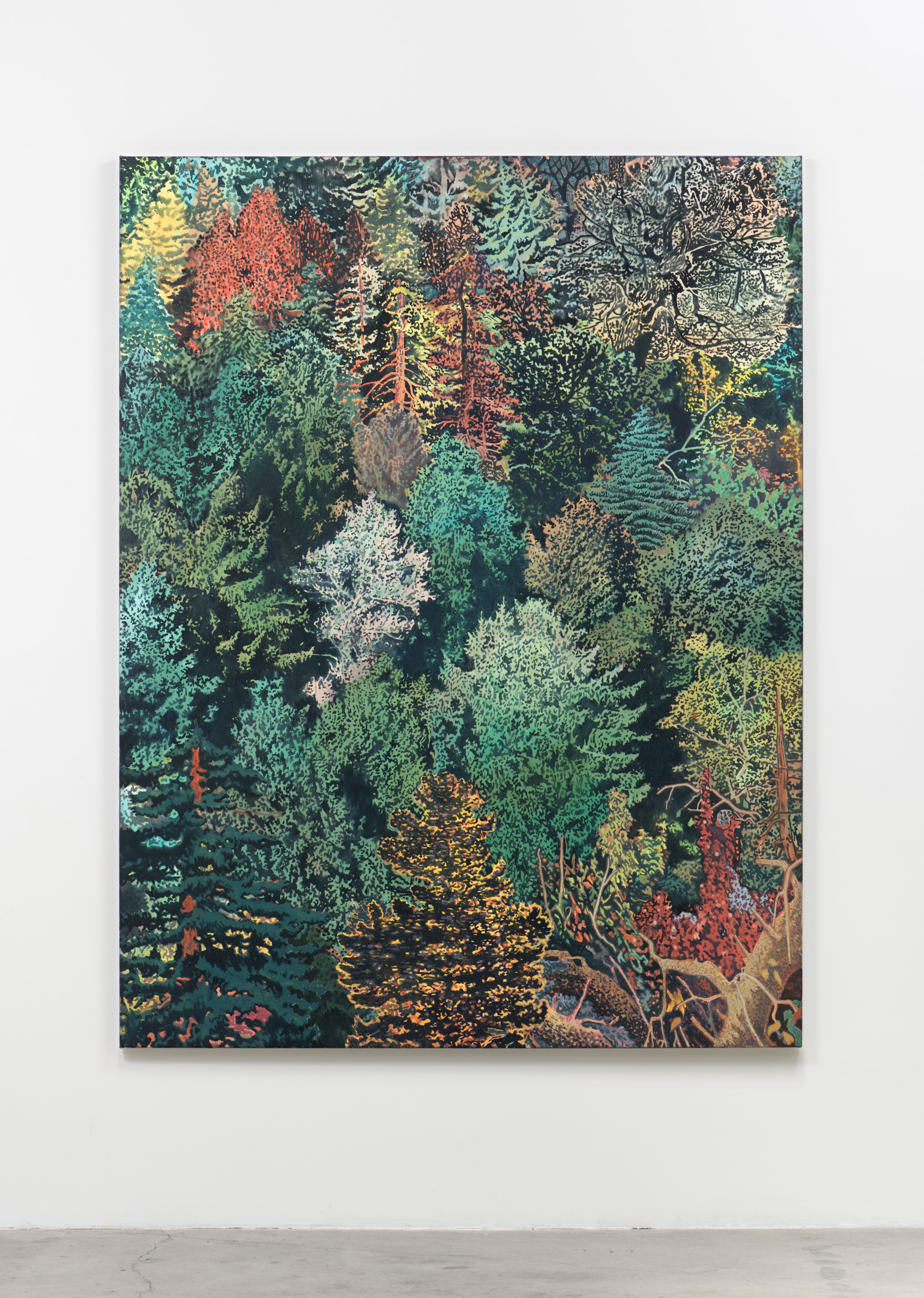 Aaron Morse  Wilderness , 2017 Acrylic on canvas 78 x 60 inches