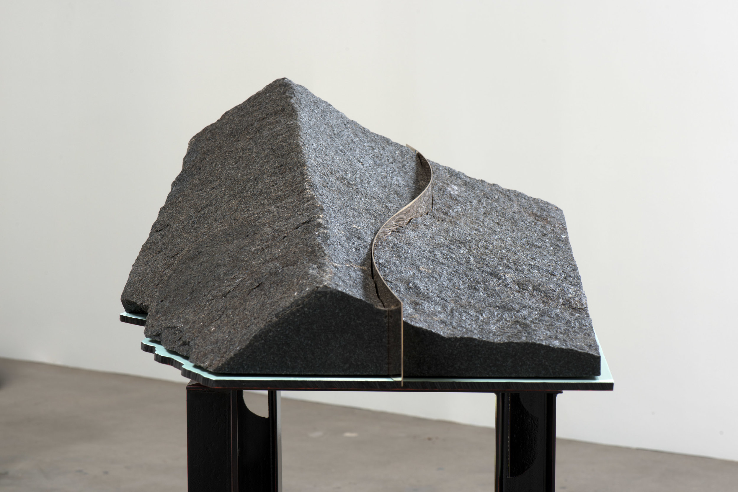 VI Model of an Earth Fastener on the Garlock Fault , 2019 Steel, enamel, granidiorite, and bronze 50 x 48 x 25 inches