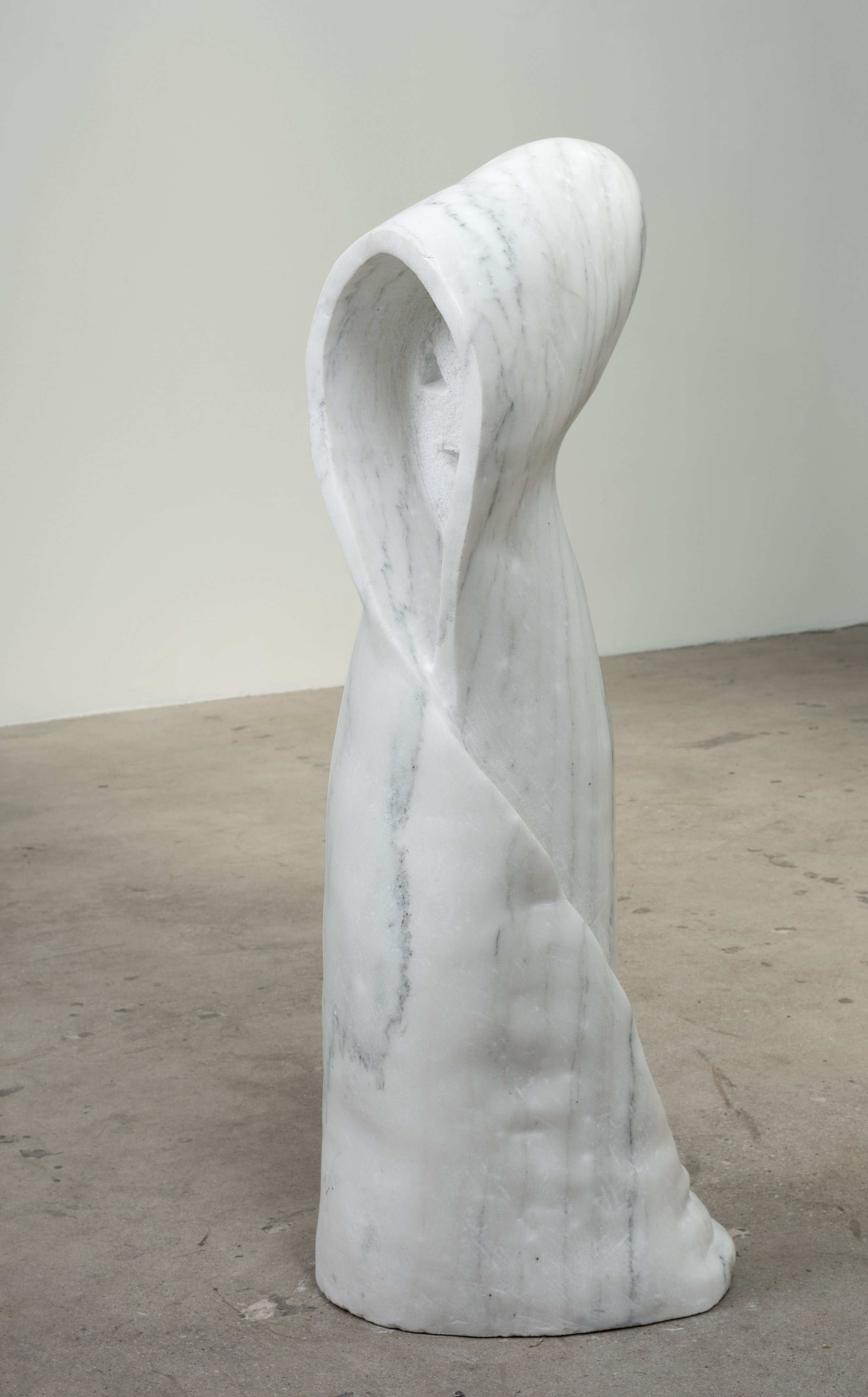 Dan Catucci  Tutelary, lost , 2019 Marble 40 x 14 x 16 inches