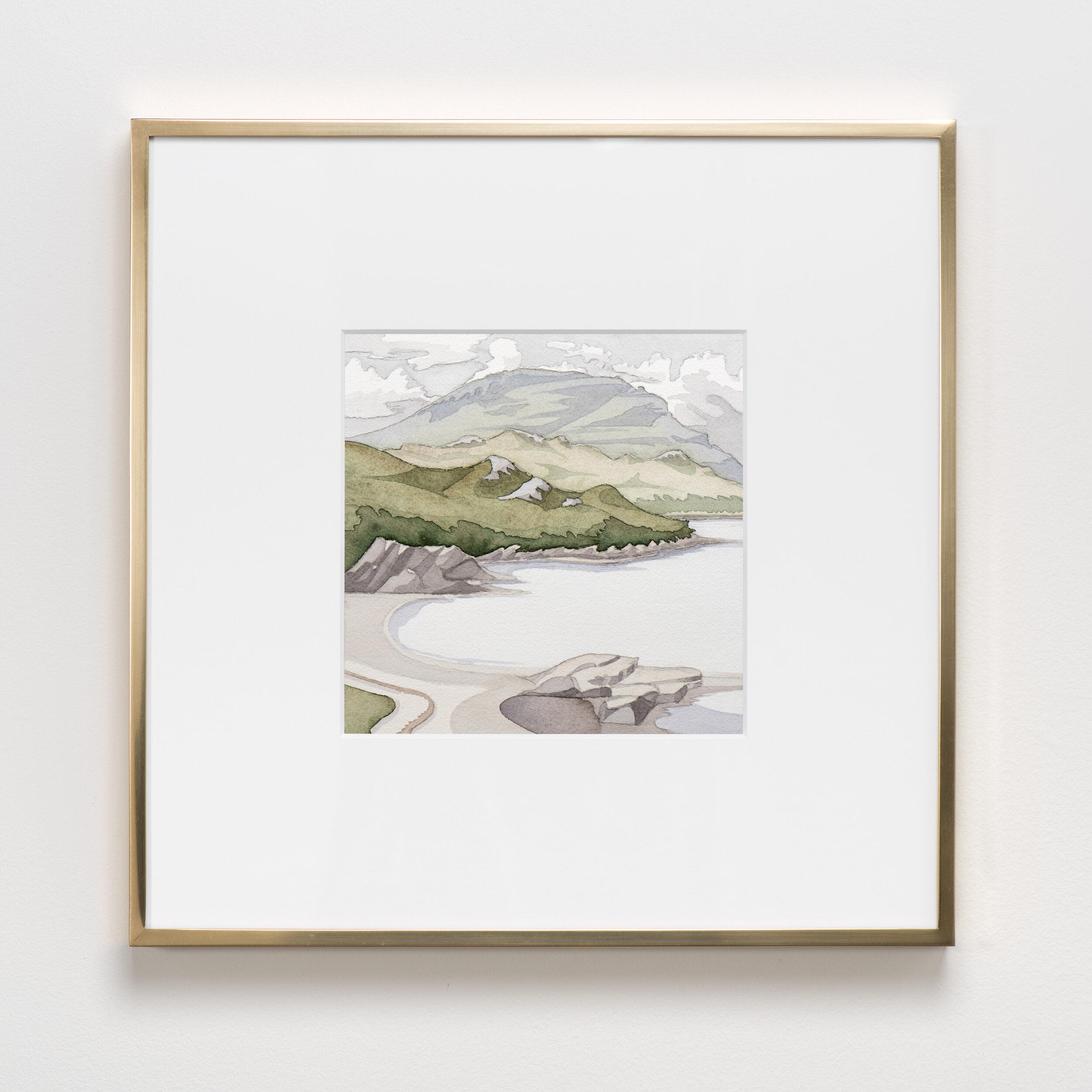 Shieldaig , 2019 Watercolor on paper 16 1/4 x 16 1/4 inches (framed) 41.3 x 41.3 cm (framed) KYWH-0024