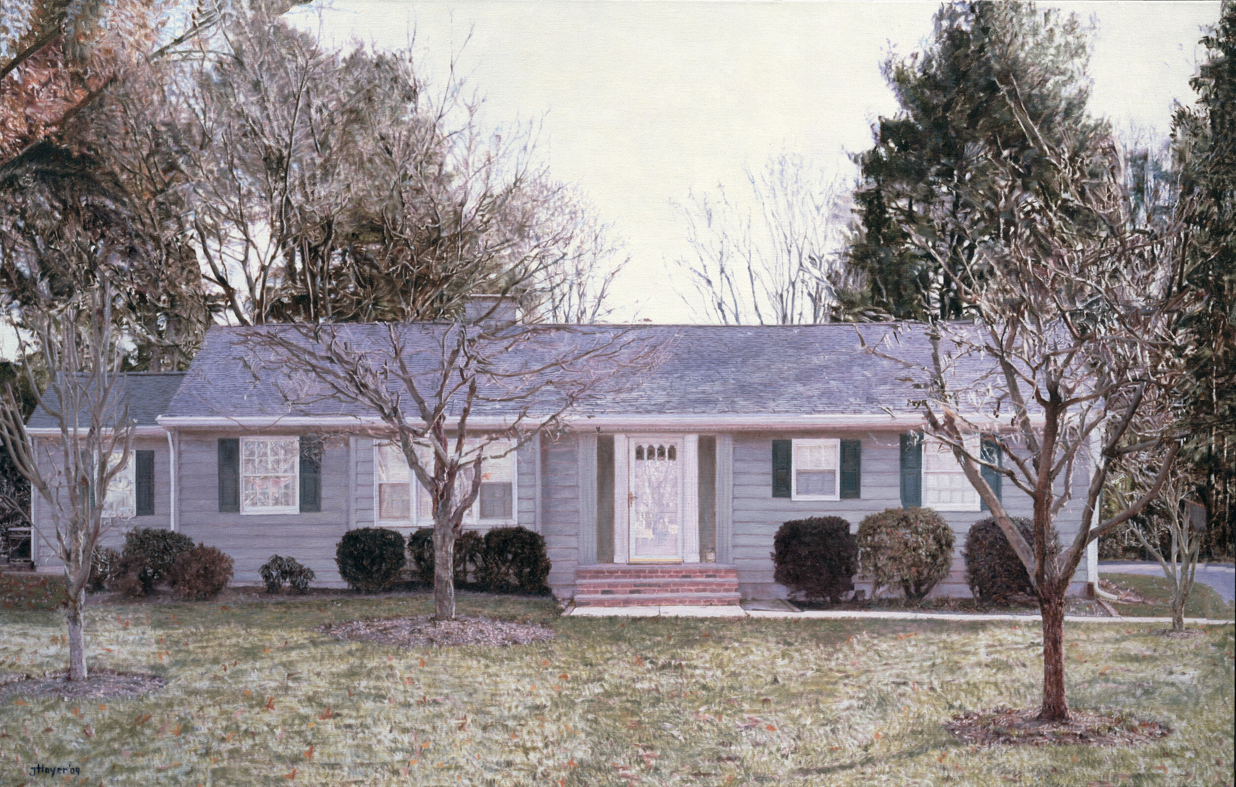 Jack Hoyer  Yardley Ranch House , 2009 Oil on linen 36 x 55 inches