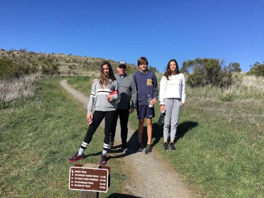 Hiking at Russian Ridge in the Santa Cruz Mountains.