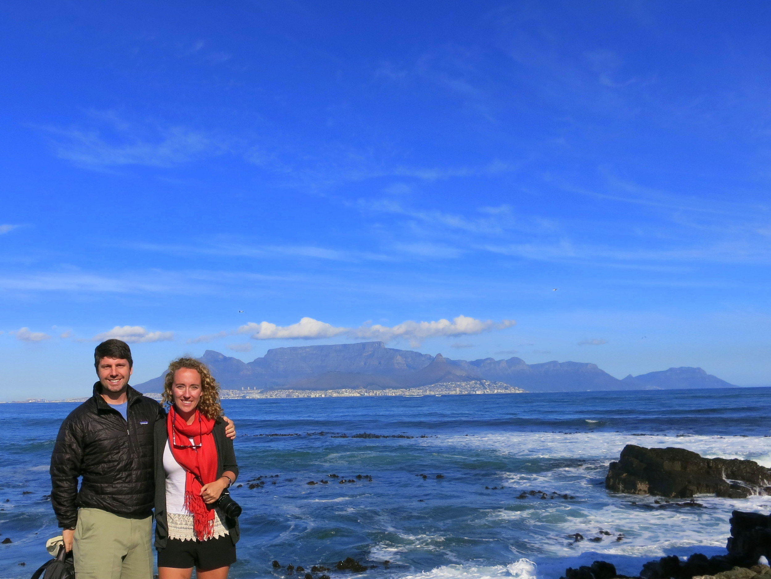 The view of Cape Town from the island!