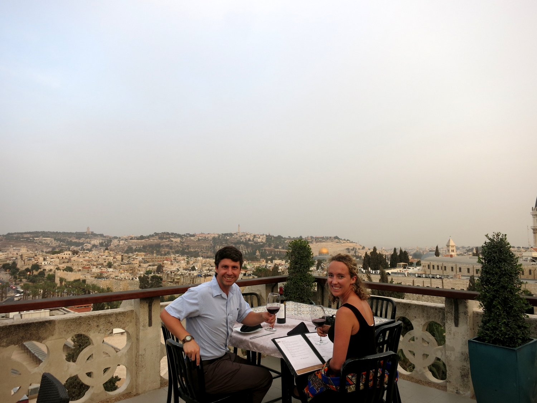 Notre Dame dinner, Jerusalem, Old City, Israel