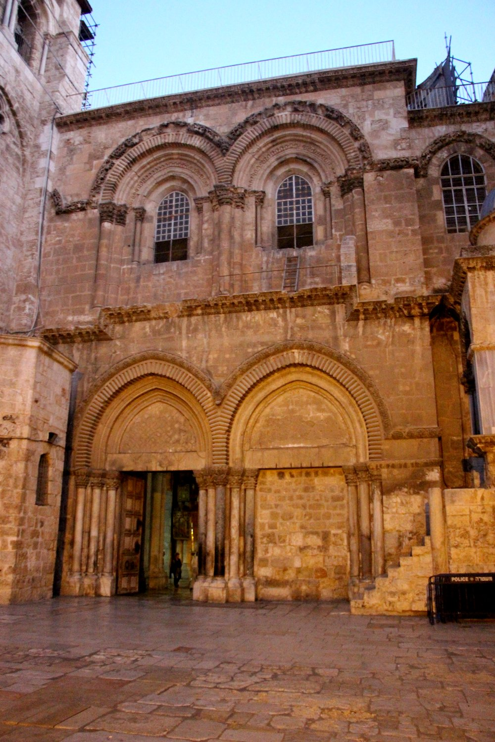 The church's entrance.