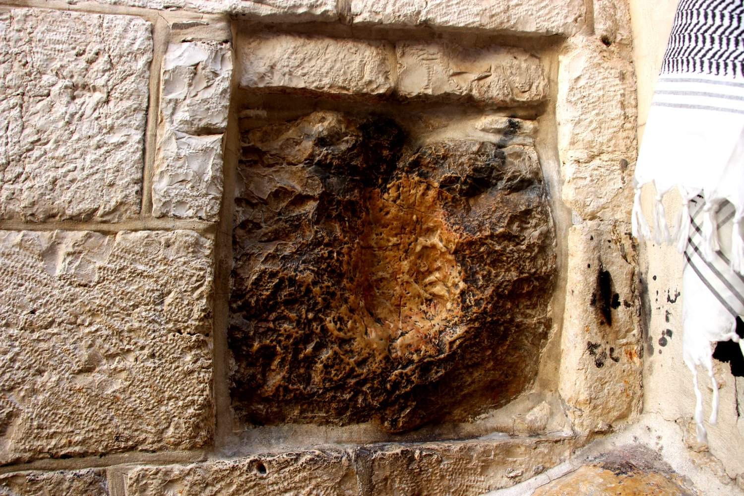 Where Jesus laid his hand to rest.