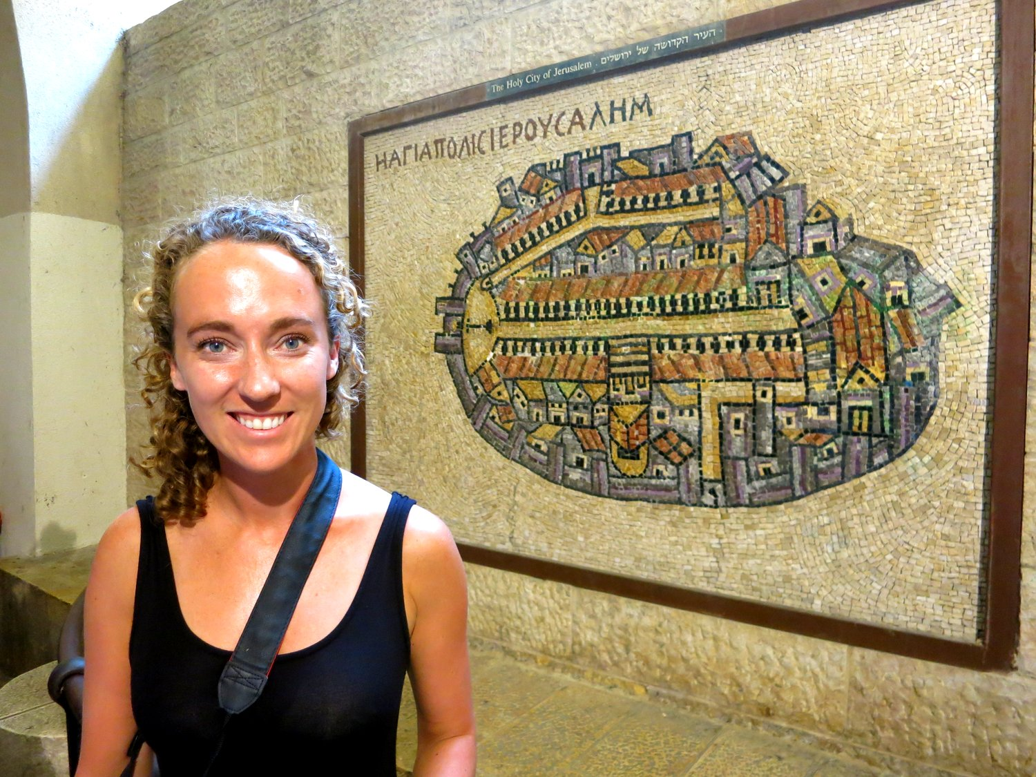 A replica of the ancient mosaic map of Jerusalem that we saw in  Madaba.