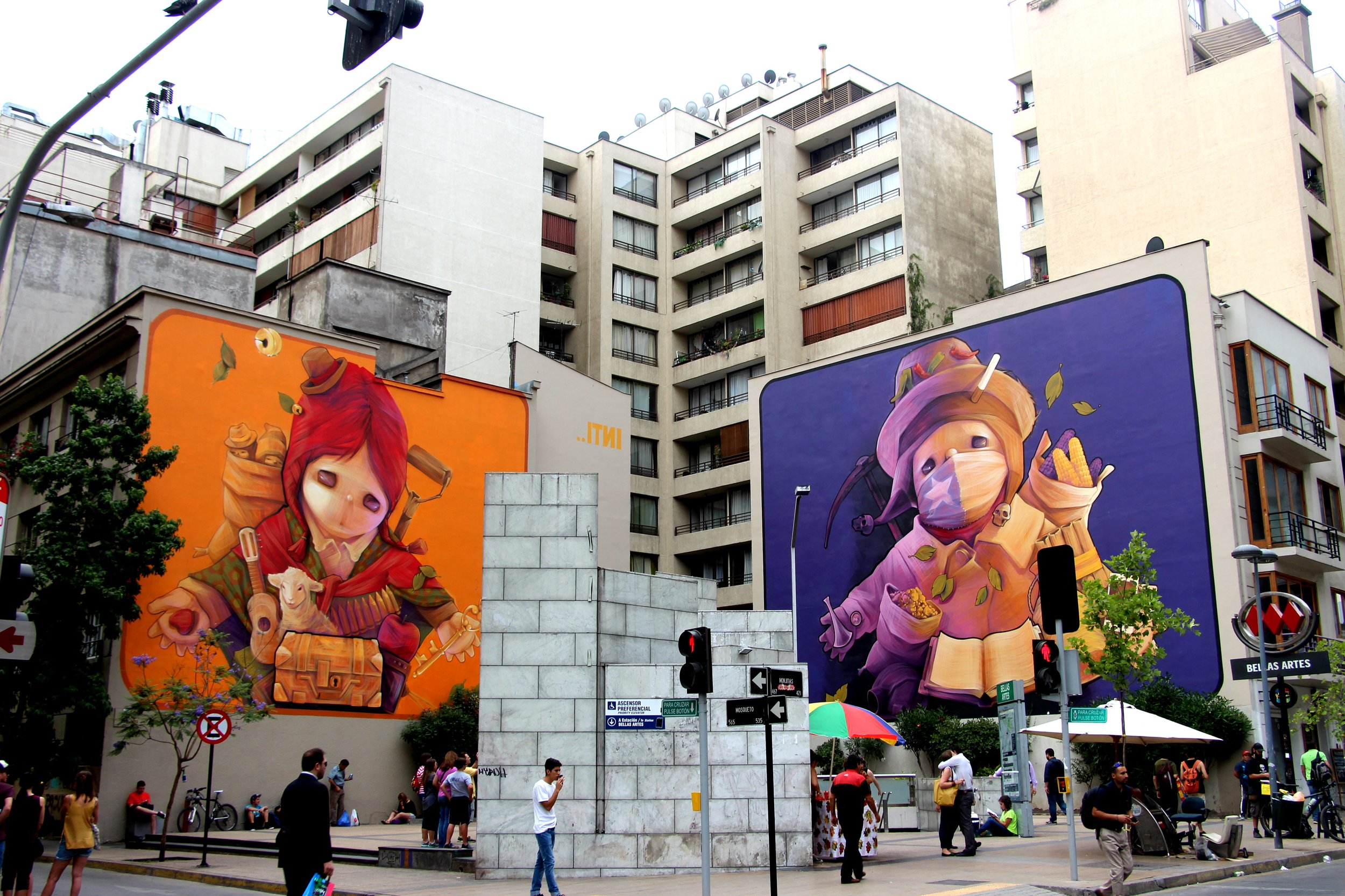 Santiago has some incredible murals of their own!