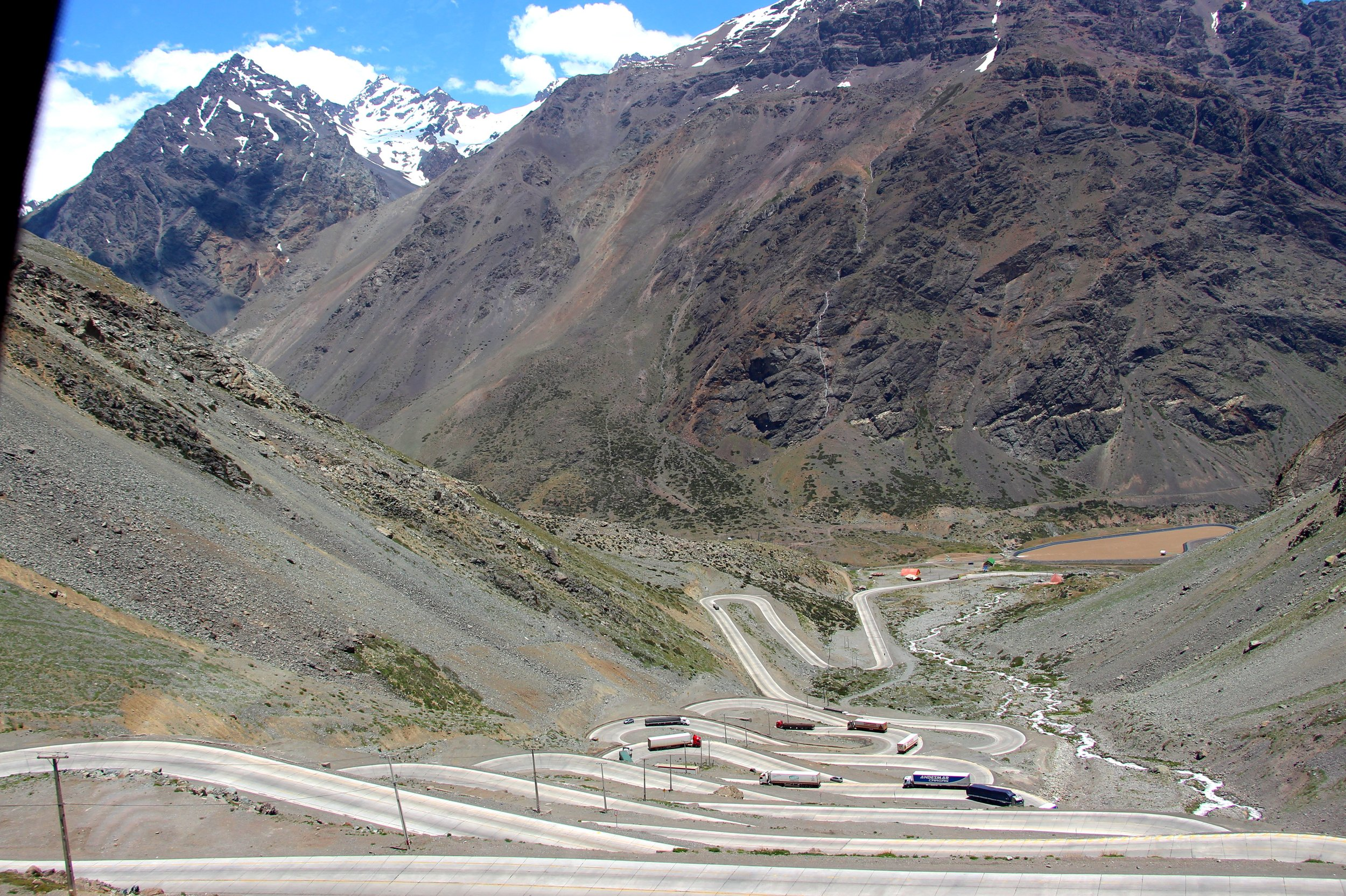 We crossed through the Andes to get to Chile and there were some pretty tight turns along the way!