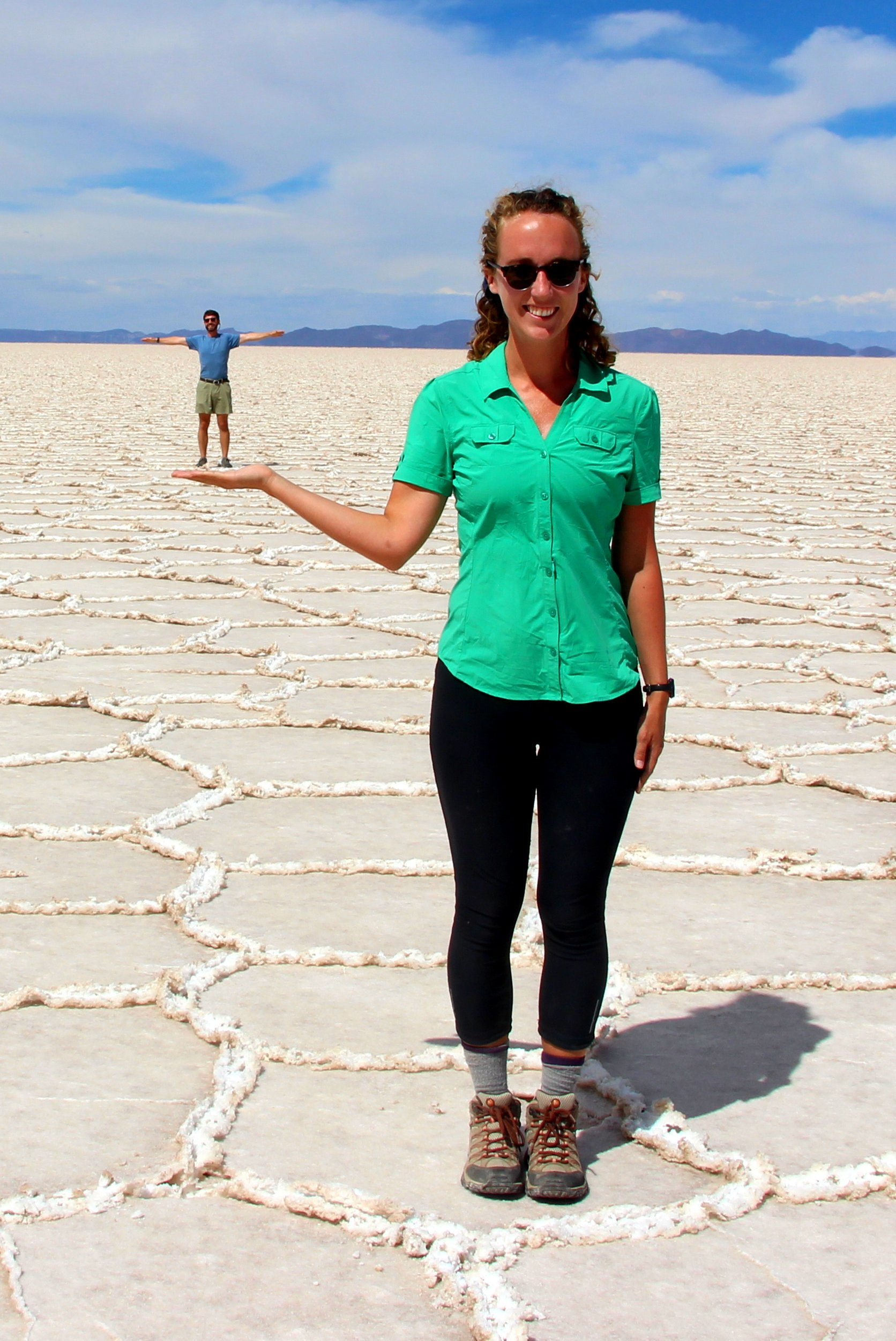 Bolivia Salt Flats Weird Pose