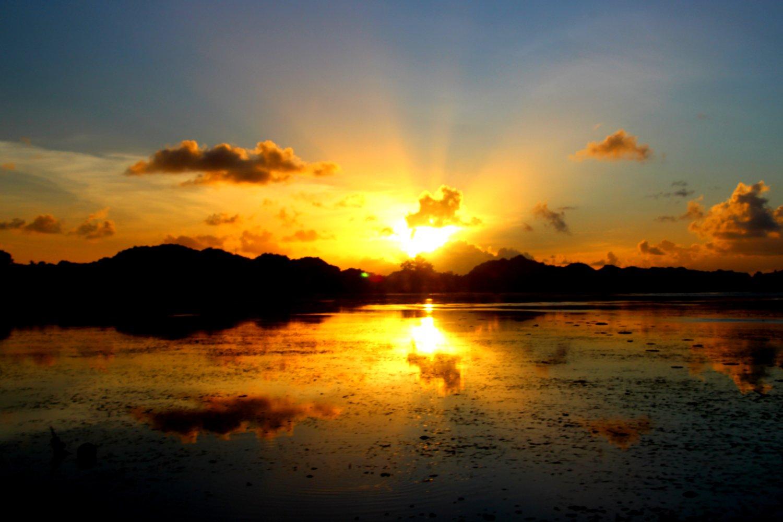 Palau sunset