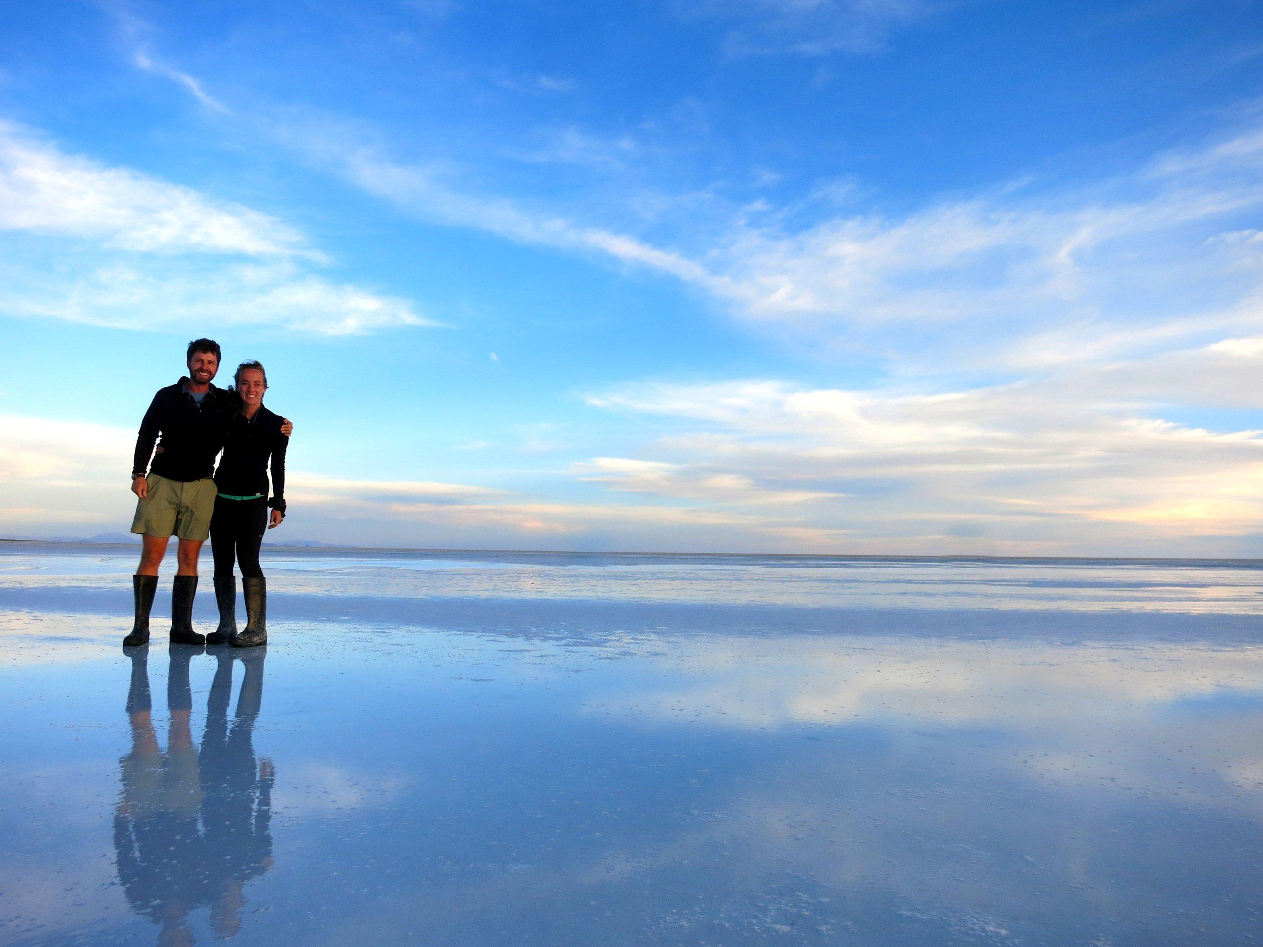 Bolivia Salt Flats Sunset