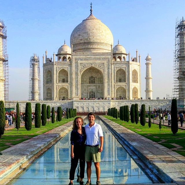 Looking through pics and I found this gem. The Taj Mahal is designed so it appears to be floating.  The pools reflect and create a peaceful and cool spot in the middle of chaotic and burning up India! #gorgeous #india #tajmahal