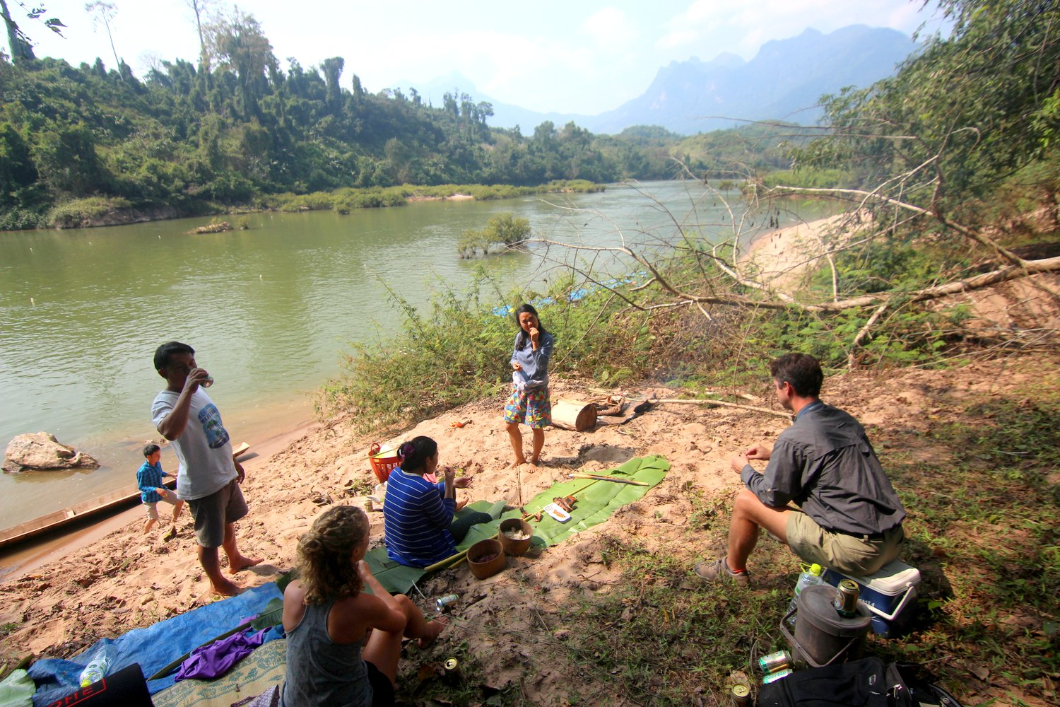Laos River Picnic