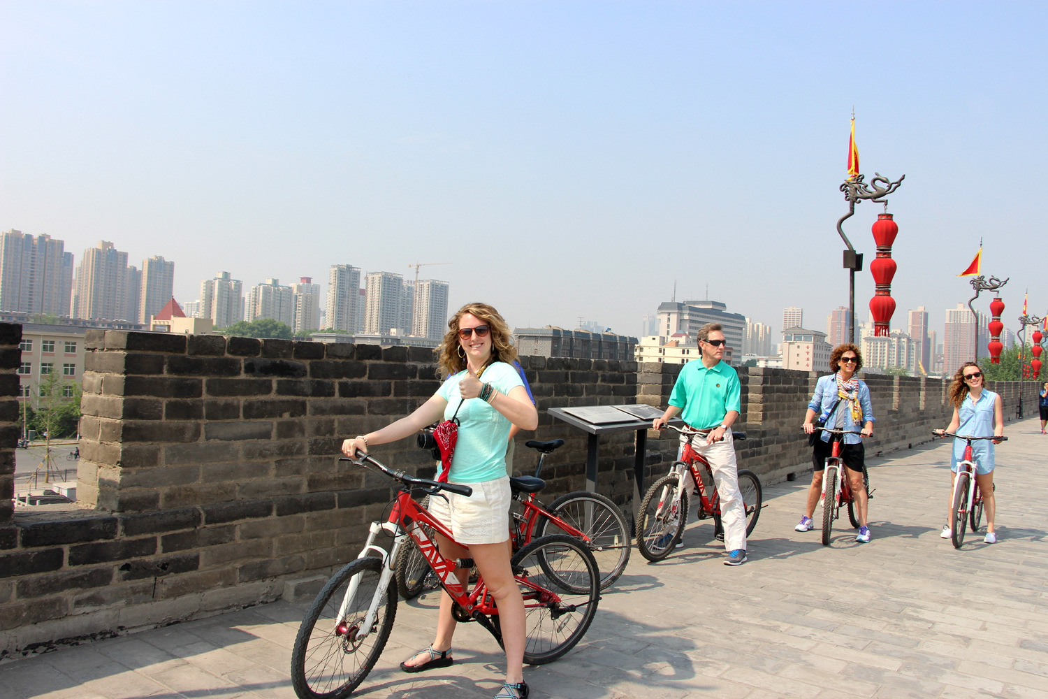 Xian Ancient Wall Bike ride