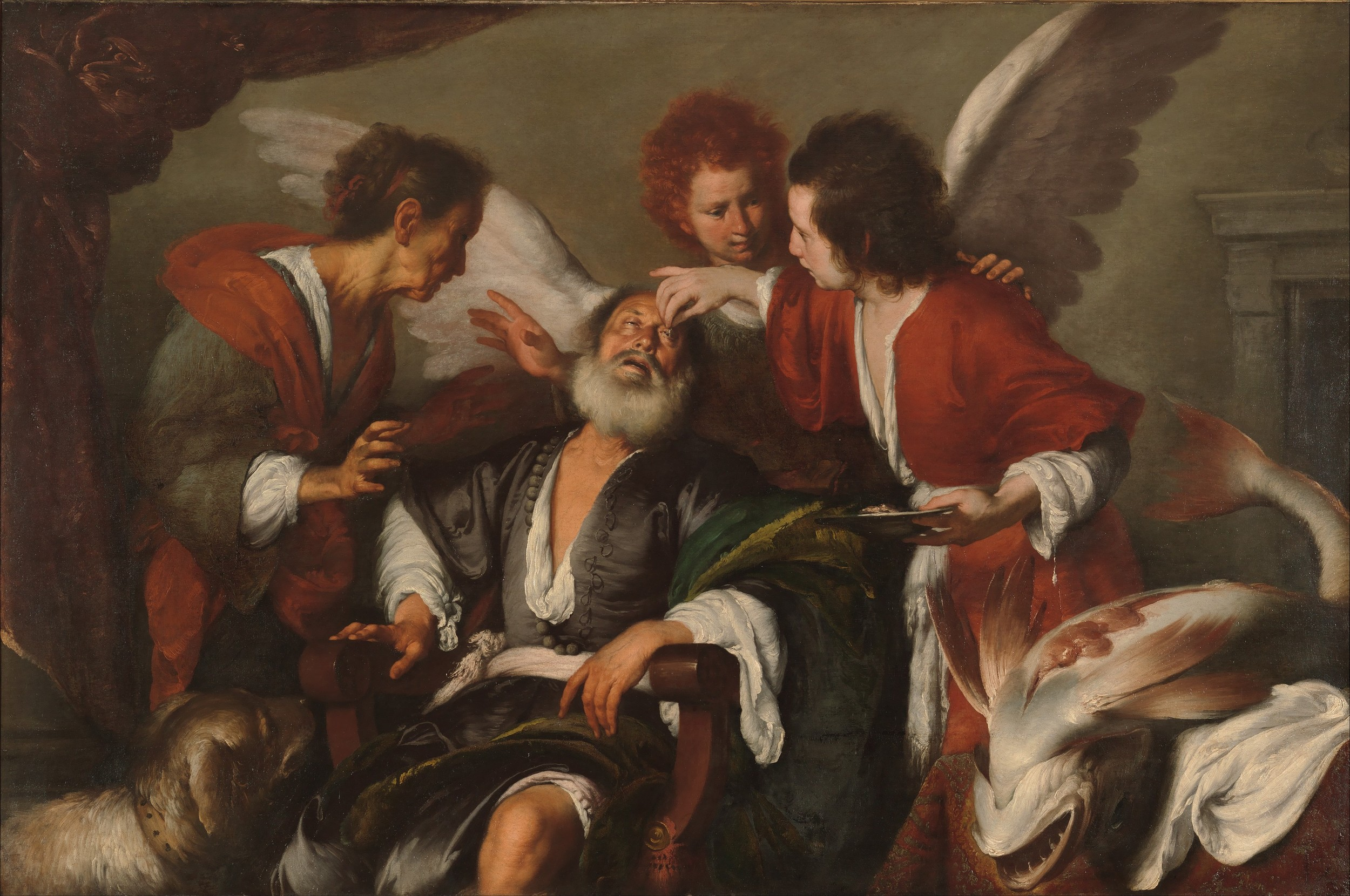 Bernardo Strozzi, The Healing Of Tobit, c.1635, oil on canvas, 66 x 81in, Hermitage, St. Petersburg