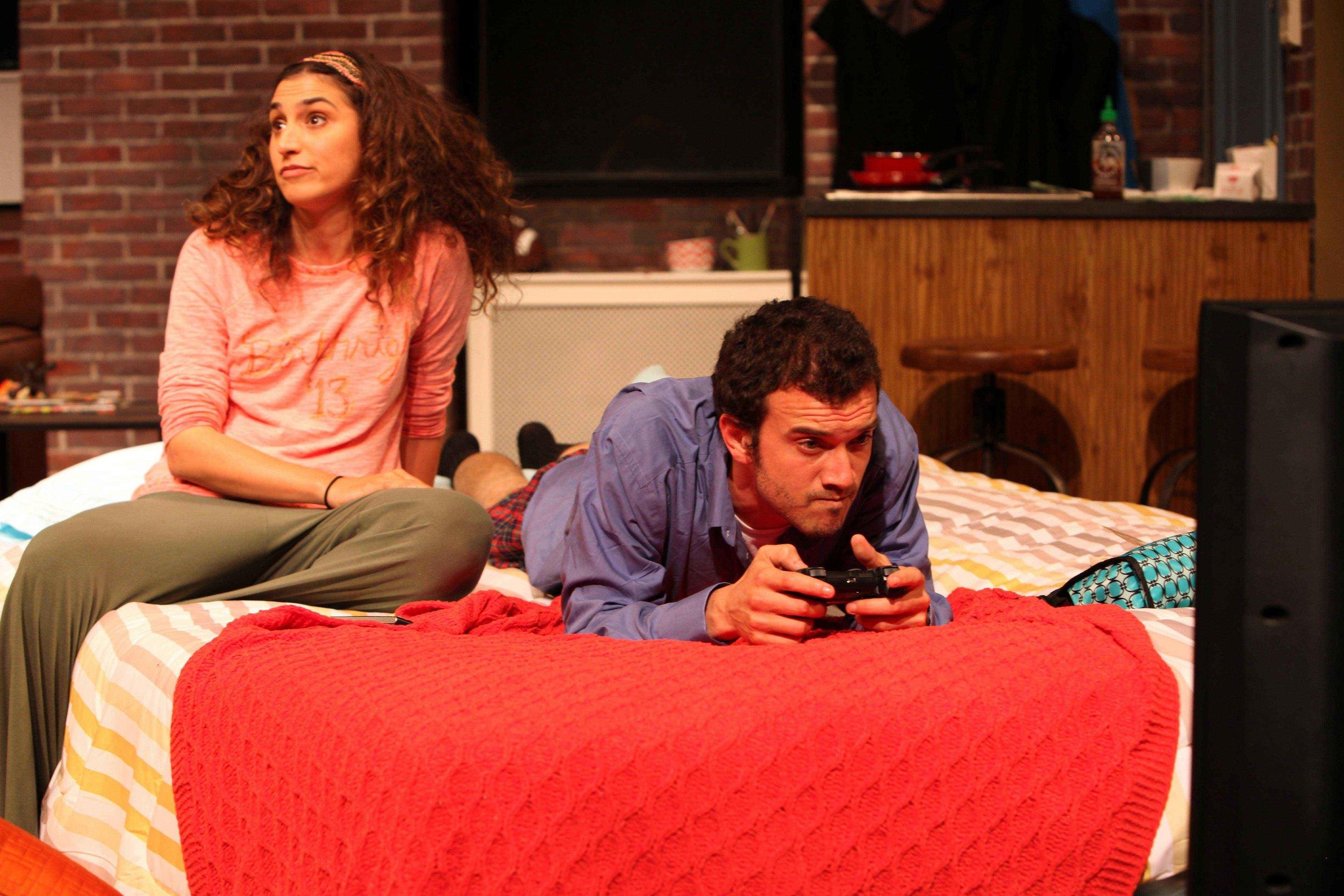 """Rebecca Benhayon & Kenny Toll in Magic Theatre's """"Bad Jews."""""""